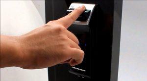 Fingerabdruckschloss an der Haustür
